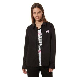 NWT New Lady Vans 80s 90s Retro Jacket w/ Patches